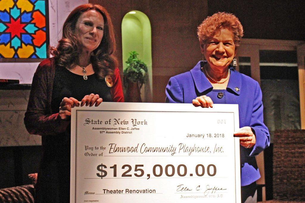 Assemblywoman Jaffee Presents $125,000 to Elmwood Community Playhouse
